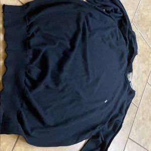 volcom v neck black  sweater men's size xl
